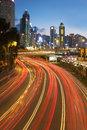 Traffic in Hong Kong city Royalty Free Stock Photo
