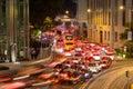 Traffic in Hong Kong. Royalty Free Stock Photo