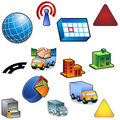 Traffic Icon Set Royalty Free Stock Photo