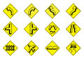 Traffic icon set auto automobile beware black business bypath car collection computer curve design Stock Images