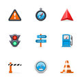Traffic icons Royalty Free Stock Photo