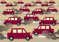Traffic a illustration about commuting and pollution Royalty Free Stock Photo