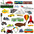Traffic illustration of with white background Stock Images