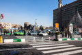 Traffic on imam khomeini square tehran february february in tehran iran tehran is iranian capital with a population of about Stock Images