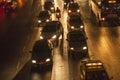 Traffic Jam in Bangkok by Night Royalty Free Stock Photo