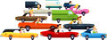 Traffic jam cartoon icons