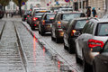 Traffic jam in the city Royalty Free Stock Photo