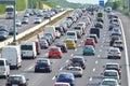 Traffic jam on german highway Royalty Free Stock Photo