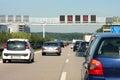 Prevádzka džem na diaľnica v nemecko