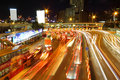 Traffic jam in Hong Kong outside the tunnel Royalty Free Stock Photos