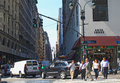 Traffic jam in new york on the fifth avenue city usa Stock Photography