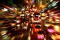 Traffic jam night shot, with dynamic blur effect Royalty Free Stock Photo