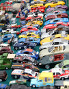 Traffic jam toy cars a collection of miniature matchbox on display at a boot fair photo ideal for highlighting car manufacturing Royalty Free Stock Image
