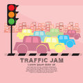 Traffic jam vector illustration eps Royalty Free Stock Photography