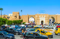 The traffic jams of sfax tunisia september is important business centre country so there are a lot in main Royalty Free Stock Photos