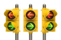 Traffic light arrow over white background easy to isolate Royalty Free Stock Photo