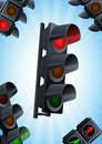 Traffic light background Royalty Free Stock Images