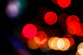 Traffic light bokeh background at night Stock Photography