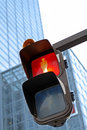 Traffic light in a city Stock Images