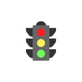 Traffic light flat icon, stop light and navigation