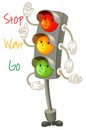 Traffic light follow the rules of the road rules for pedestria pedestrians vector illustration isolated on white background Stock Photo