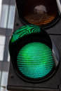 Traffic light with green light Royalty Free Stock Photo