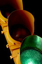 Traffic light-Illuminated Green Stock Photos