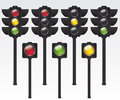 Traffic light illustration on white background Stock Images