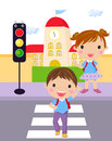 Traffic light kid Stock Images