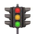 Traffic light over white background easy to isolate Stock Images