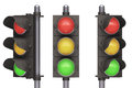 Traffic light over white background easy to isolate Stock Photo