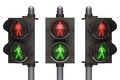 Traffic light pedestrian on white background concept of easy to isolate Royalty Free Stock Photos