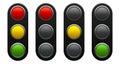 Traffic light schematic Royalty Free Stock Photo