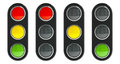 Traffic light schematic  2 Royalty Free Stock Photo