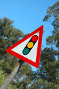 Traffic light sign Stock Images