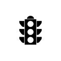 Traffic light solid icon, stoplight and navigation