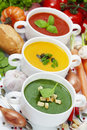 Traffic light soups Royalty Free Stock Photo