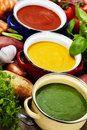 Traffic light soups Stock Photography