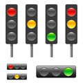 Traffic light & status bar Royalty Free Stock Photo