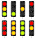 Traffic Light / Traffic Lamp set. Vector Illustration. Royalty Free Stock Photo