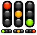 Traffic Light / Traffic Lamp set. Vector Illustration. Royalty Free Stock Photo
