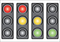 Traffic light. Variants. Royalty Free Stock Image