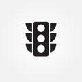 Traffic light vector icon illustration graphic design.