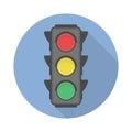Traffic light vector icon. Royalty Free Stock Photo