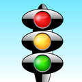 Traffic light vector ilustration Stock Photography