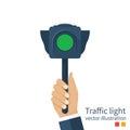 Traffic light vector Royalty Free Stock Photo