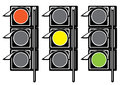 Traffic light on white background Royalty Free Stock Image