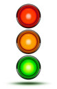 Traffic lights as found at vehicle intersections or road crossin Royalty Free Stock Photo