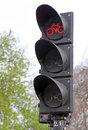 Traffic lights for bicycles at netherlands Royalty Free Stock Photography