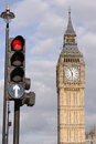 Traffic lights and big ben Royalty Free Stock Photo